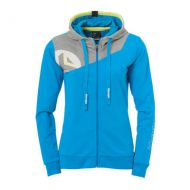 Dames Kempa Core 2.0 Hooded Jacket - Blauw-Grijs